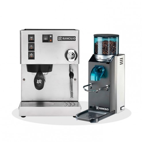 Rancilio Silvia V6 E 2020 Latest Edition + Rancilio Rocky SD