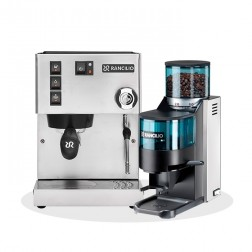 Rancilio Silvia V6 E 2020 Latest Edition + Rancilio Rocky D + Rancilio Base BS50