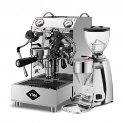 Vibiemme Domobar Junior HX + Mazzer Mini Electronic Model A Polished Aluminium