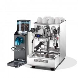 Expobar Brewtus IV Leva Multiboiler Vibration Pump & Rancilio Rocky SD