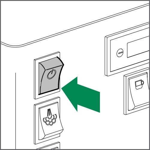 Switch on main switch